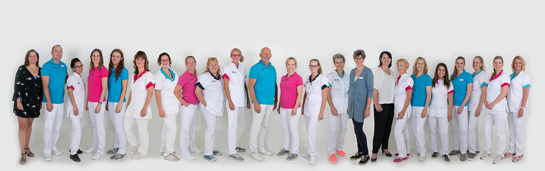 groepsfoto tandartspraktijk de boemerang